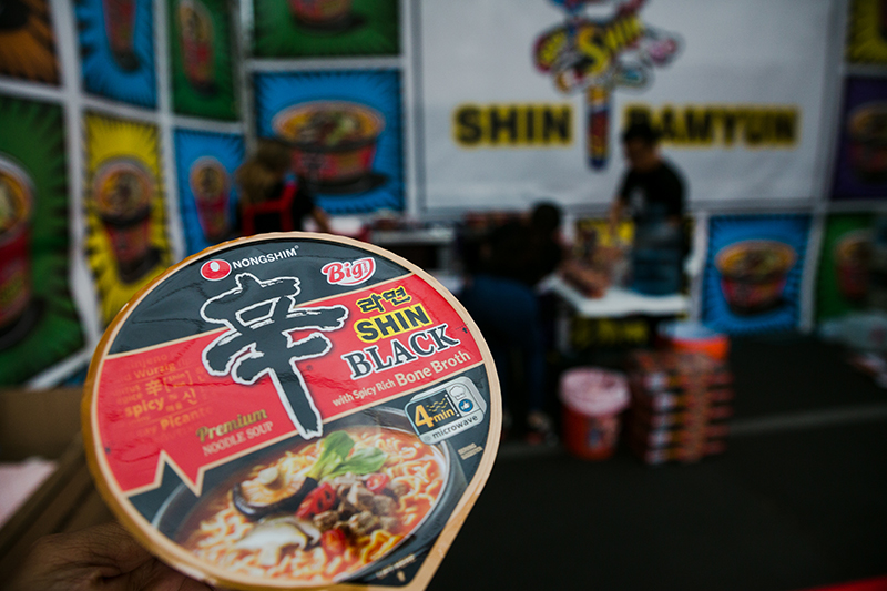 Nongshim Popup Event Tent and Shin Black Cup